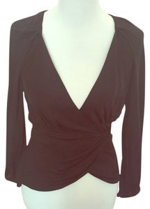 Diane von Furstenberg Top Black wrap top