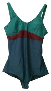French Toast British Toast One Piece Turquoise & Green & Plum Swimsuit