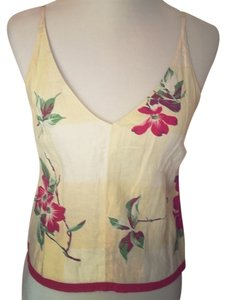 DKNY Top Floral yellow top