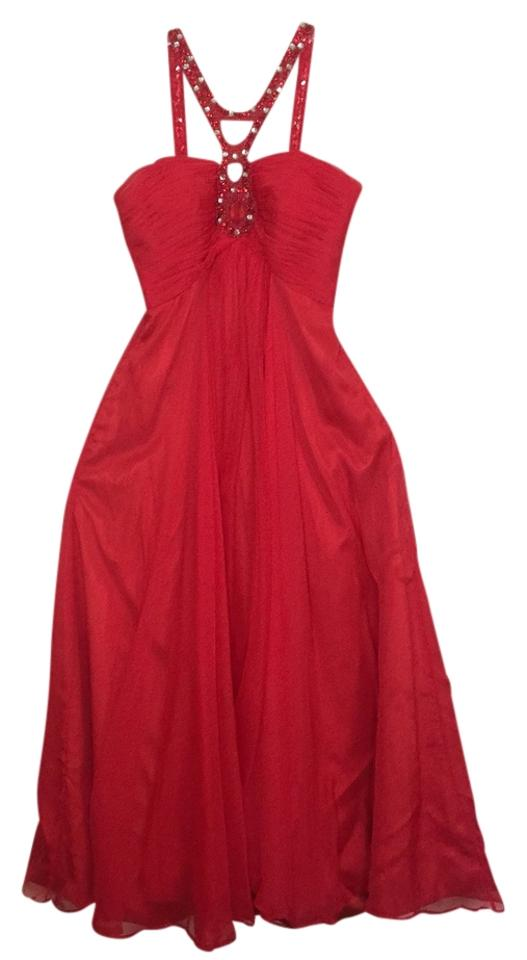 Lightinthebox Red Gown Long Formal Dress Size 10 M Tradesy