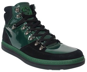 Gucci 368496 High-top Sneaker Black, Green Athletic