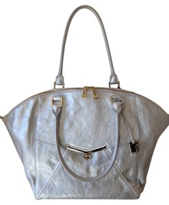 Botkier Valentina Leather Tote in Silver