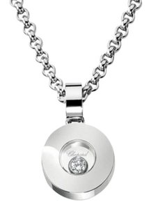 Chopard Chopard 18K White Gold Happy Diamond Icon Necklace 793086