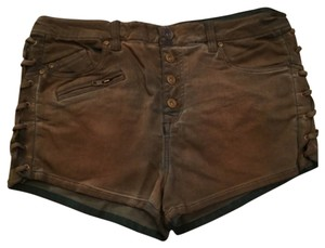 Free People High Rise High Waisted Mini/Short Shorts Dark brown
