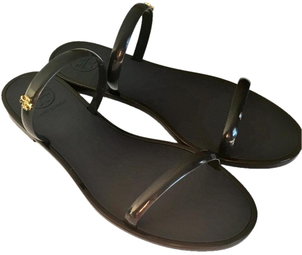 bcde19d1cc5 Tory Burch 2 Band Jelly Slides NAVY Sandals Image 0 ...