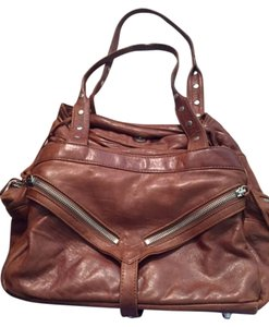 Botkier Leather Chic Soft Useful Satchel in Brown