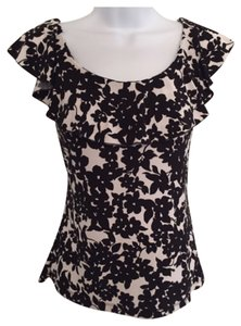 Chaps Summer Top Black and white