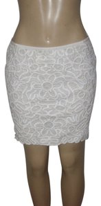 Club Monaco Mini Skirt Ivory