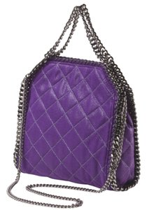 Stella McCartney Falabella Quilted New Tote in Bright Purple