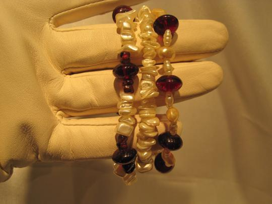 Other Pearl and Rubellite Bracelet Trio - [ Roxanne Anjou Closet ]