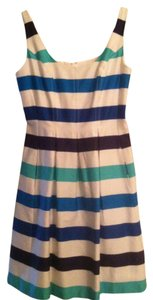Nine West short dress White with Blue Stripes on Tradesy