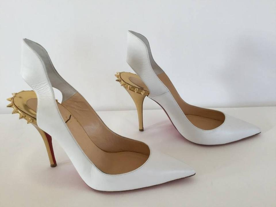 02d7822a85d2 Louboutin White Spikes Uk Leather Booties On Sale
