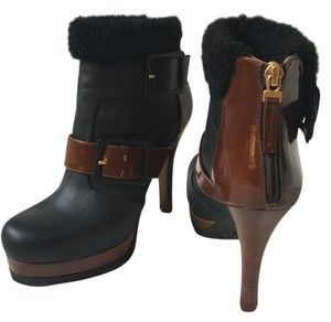 Fendi Leather Black/Brown Boots