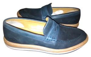 UGG Australia Leather Penny Loafer/oxford Blue Mules