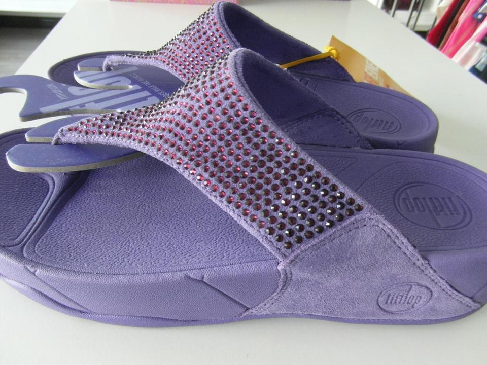 34147d05dc470c FitFlop Java Purple New Women s Rokkit In Suede Sandals Size US 8 ...