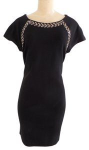 Carmen Marc Valvo Gold Accents Date Dress