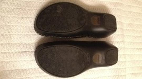 Brn Leather Euc 7 Comfy Flats Slides Leather Euc 7 Comfy Quality Flat Flats Real Leather Real Leather Leather Upper black Mules
