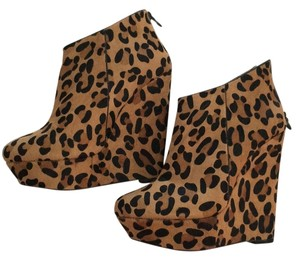 bebe Leopard Wedges