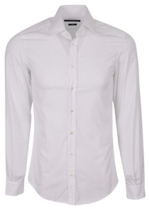 Gucci Men's Shirt Dress Shirt Men's Dress Shirt Button Down Shirt White