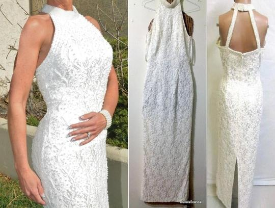 Preload https://item1.tradesy.com/images/david-s-bridal-white-off-ivory-lace-pearls-lining-polyester-op-003-formal-wedding-dress-size-10-m-145195-0-0.jpg?width=440&height=440