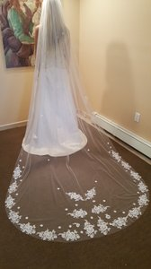 Gorgeous Cathedral Veil With Lace Detail
