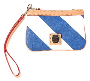 Dooney & Bourke Stripes Blue Wristlet in Blue/White