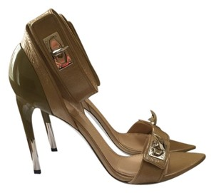 Givenchy Shark-lock Python Wedding Silver Heels Engagement nude Sandals