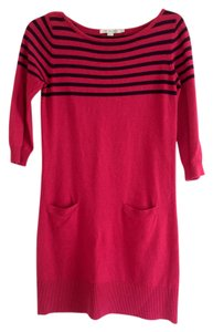 Boden short dress Pink with navy stripes on Tradesy