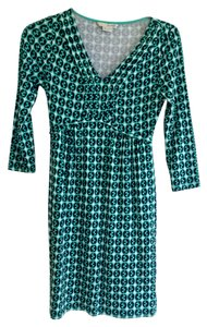 Boden short dress Mint with navy & ivory on Tradesy