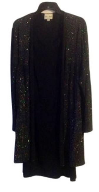 Preload https://item1.tradesy.com/images/delta-burke-black-main-two-piece-sleeveless-with-sparkling-long-sleeve-ja-cocktail-dress-size-14-l-14520-0-0.jpg?width=400&height=650