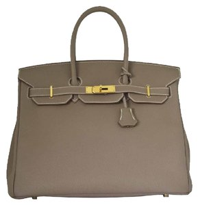 Herms Tote in Etoupe