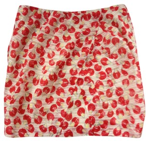 Leifsdottir Petal Print Mini Mini Skirt Cherry Red