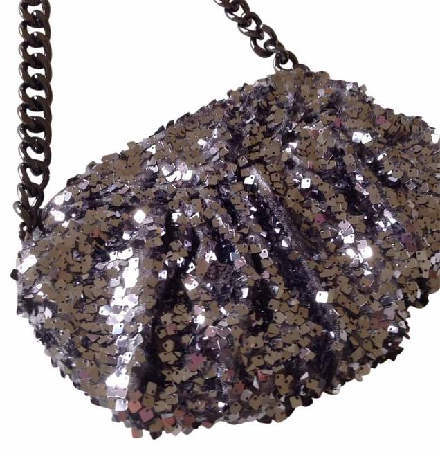 Item - Sparkle Silver Satin Cross Body Bag