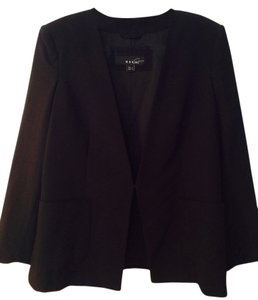 Mango No Collar Black Blazer