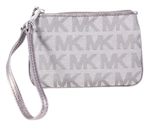 Michael Kors Monogram Wristlet in Gray