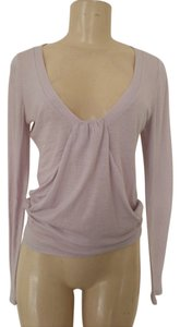 Vanessa Bruno Sheer Lavender Xs Longsleeve Summer Top Light Lavender
