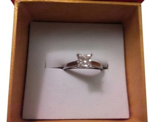 Princess Diamond GIA Colorless E, VVS2, .70ct Princess Diamond Solitaire Ring