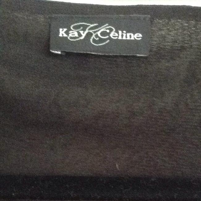 Kay Celine Top Black & Gray
