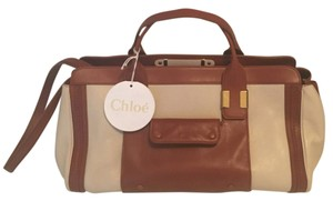 Chloé Satchel in Brown And White