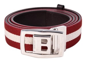 Bally * Bally Stripe & Solid Reversible Belt Size 115/46