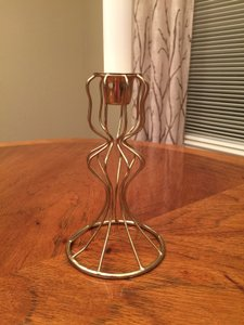Gold Wire Candle Holders- Short