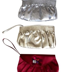 Old Navy Red, Gold, Silver Clutch
