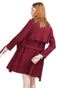 Zara Trench Trench Red Jacket Spring Trench Coat