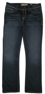 BKE Harper 5 Pocket Style Zip Fly Cotton/poly/spandex Boot Cut Jeans-Dark Rinse