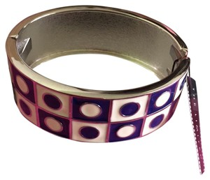 The Limited Enameled Bangle Cuff Bracelet with Spring Closure