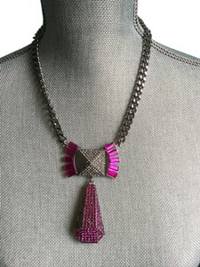 BCBGeneration Drop necklace with Pink stones