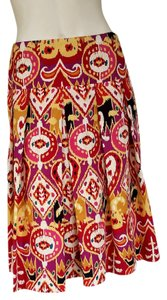 Other Colorful Ethnic Ikat Skirt Multi-colored