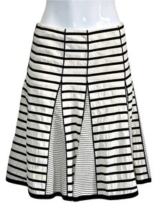 Nanette Lepore Cotton Skirt Black & Cream