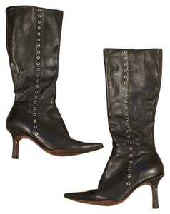 Nine West Black with grommets Boots
