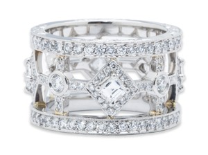 Beaudry Beaudry Diamond And Platinum Wedding Band.
